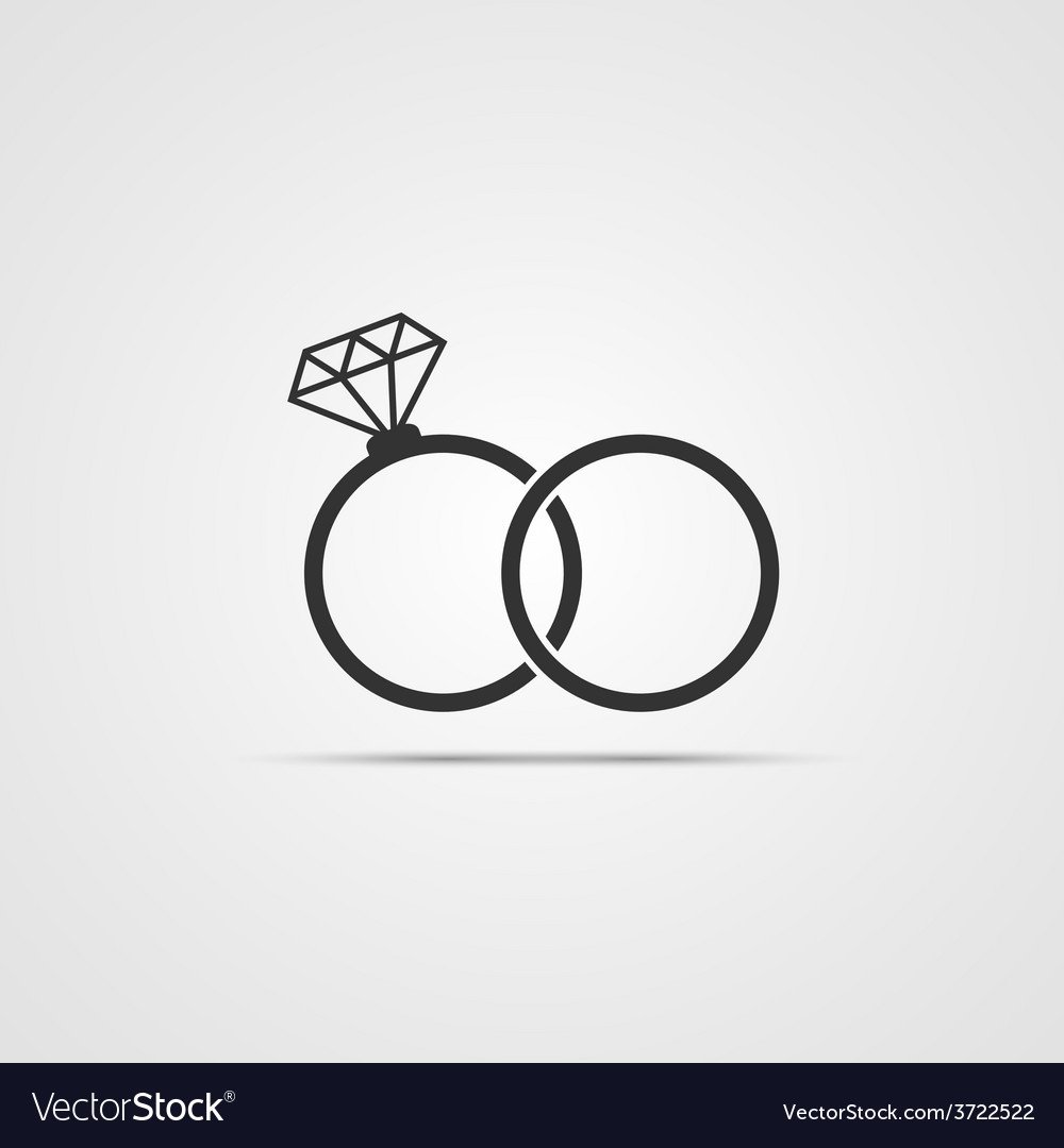 wedding ring icon royalty free vector image - vectorstock