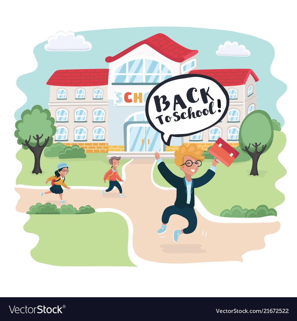 Welcome back to school cute school kids