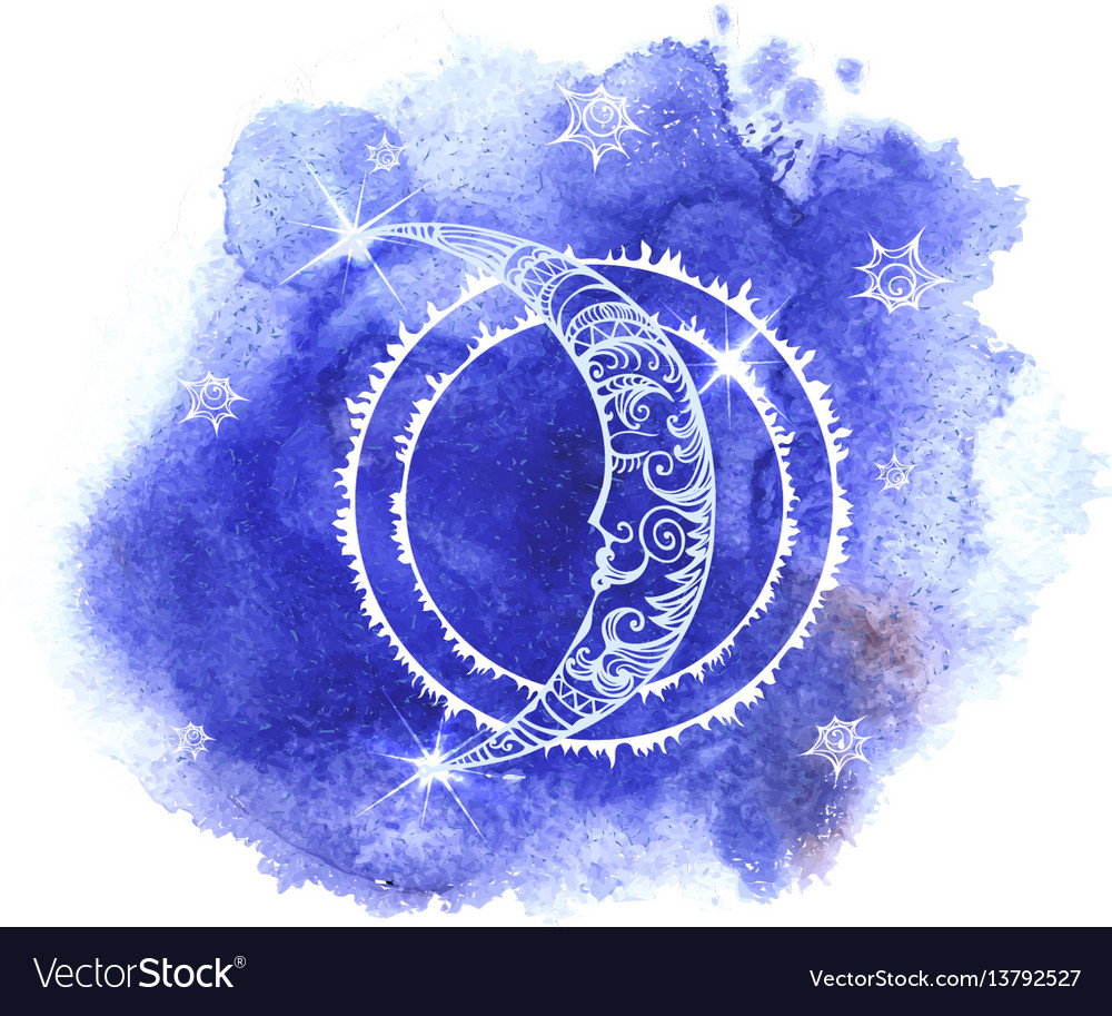A moon vector image