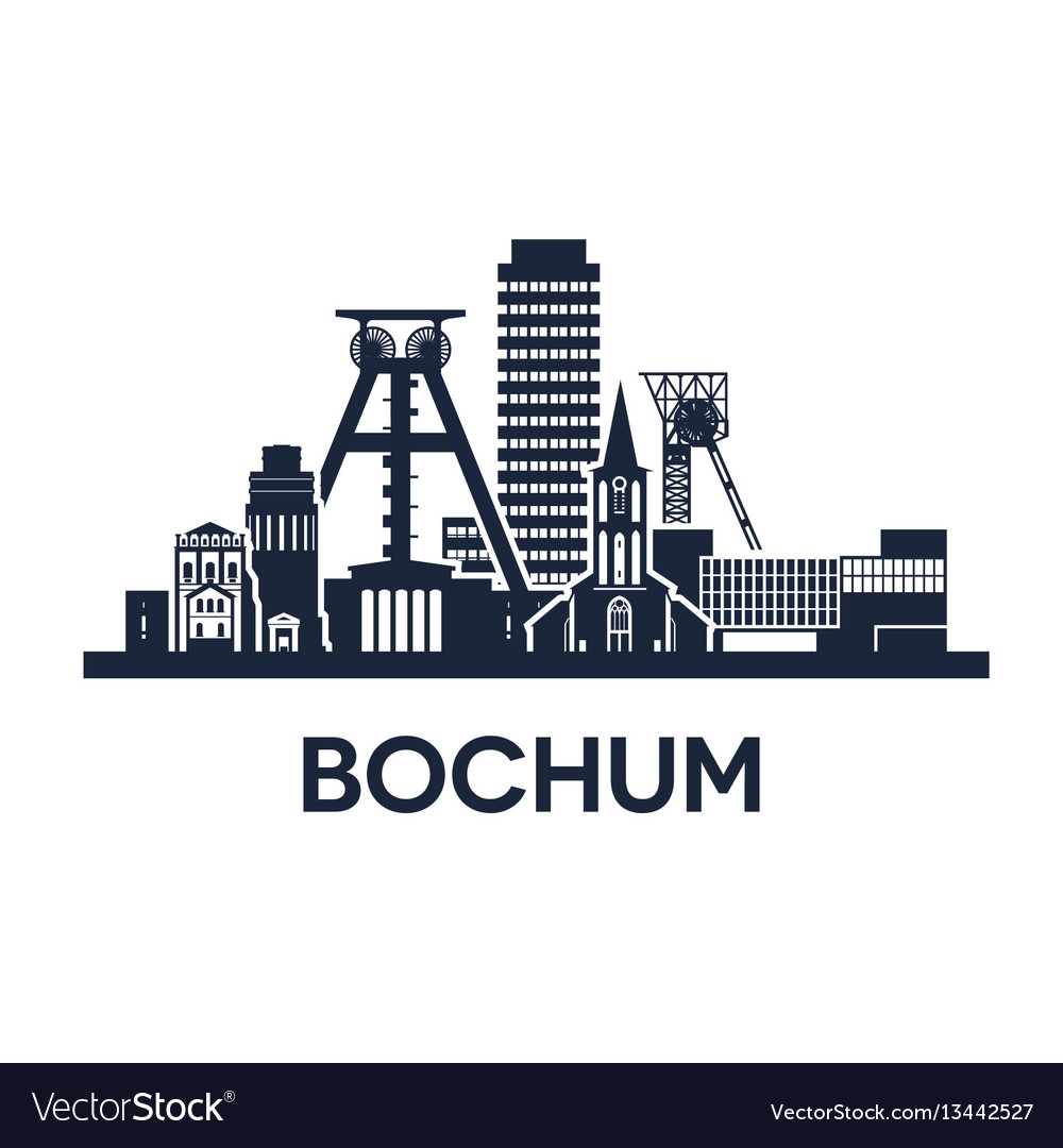 Bochum city skyline