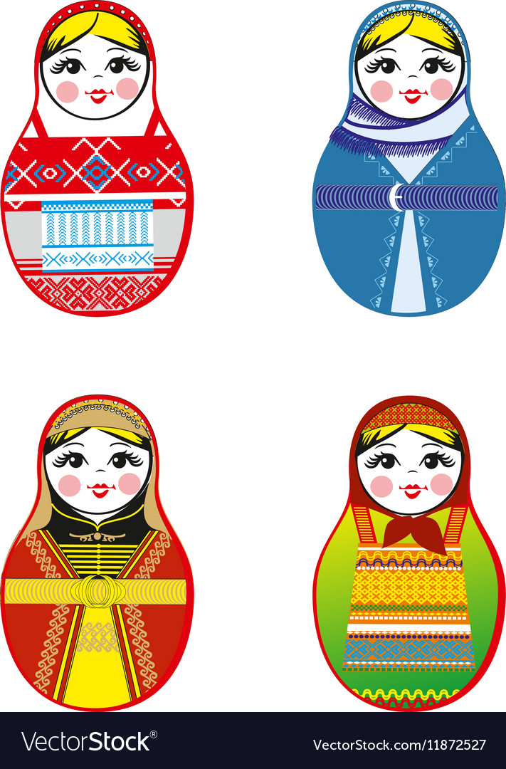Nested dolls set Matryoshka with different
