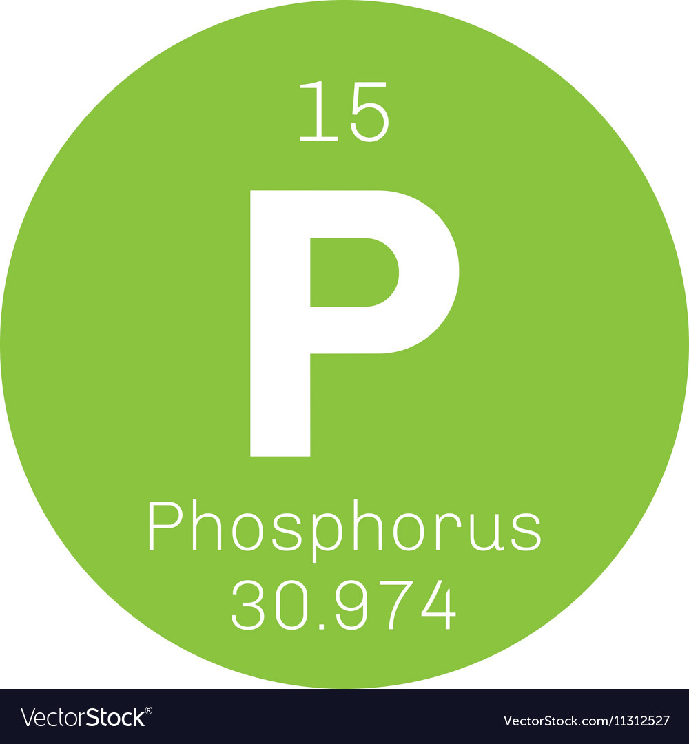 Phosphorus Chemical Element Royalty Free Vector Image