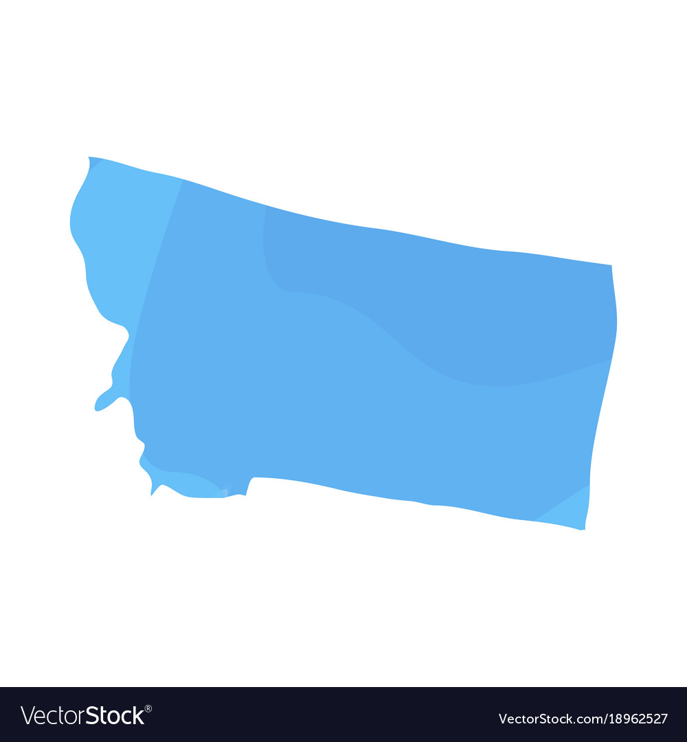 Political map of the state of montana Royalty Free Vector
