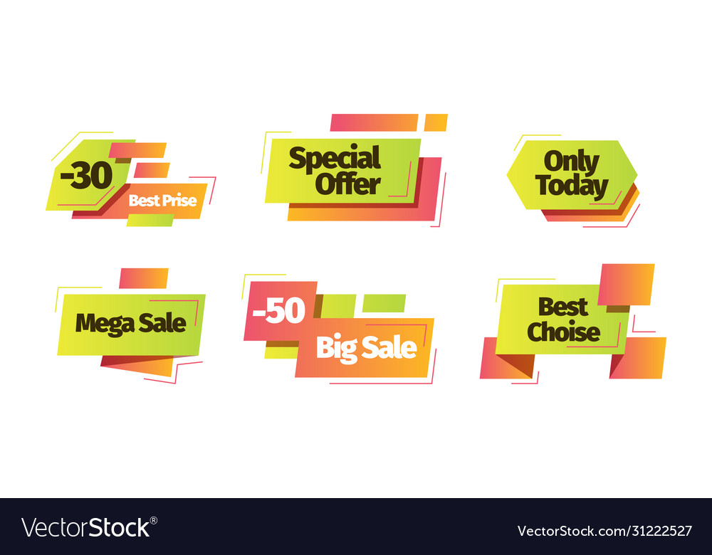 Sale banner set sale special discount only today