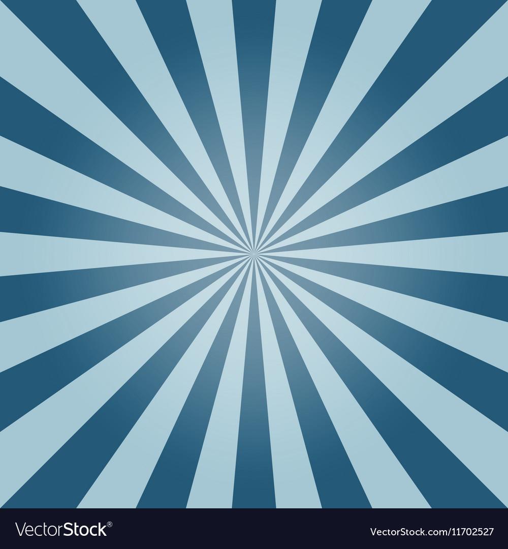 Sun burst background blue sky vintage vector image