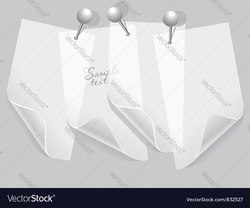Transparent stickers wiht pins vector image