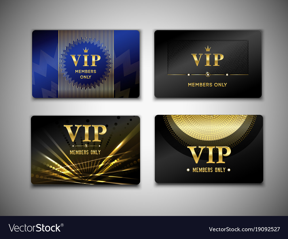 Vip cards design template royalty free vector image vip cards design template vector image maxwellsz