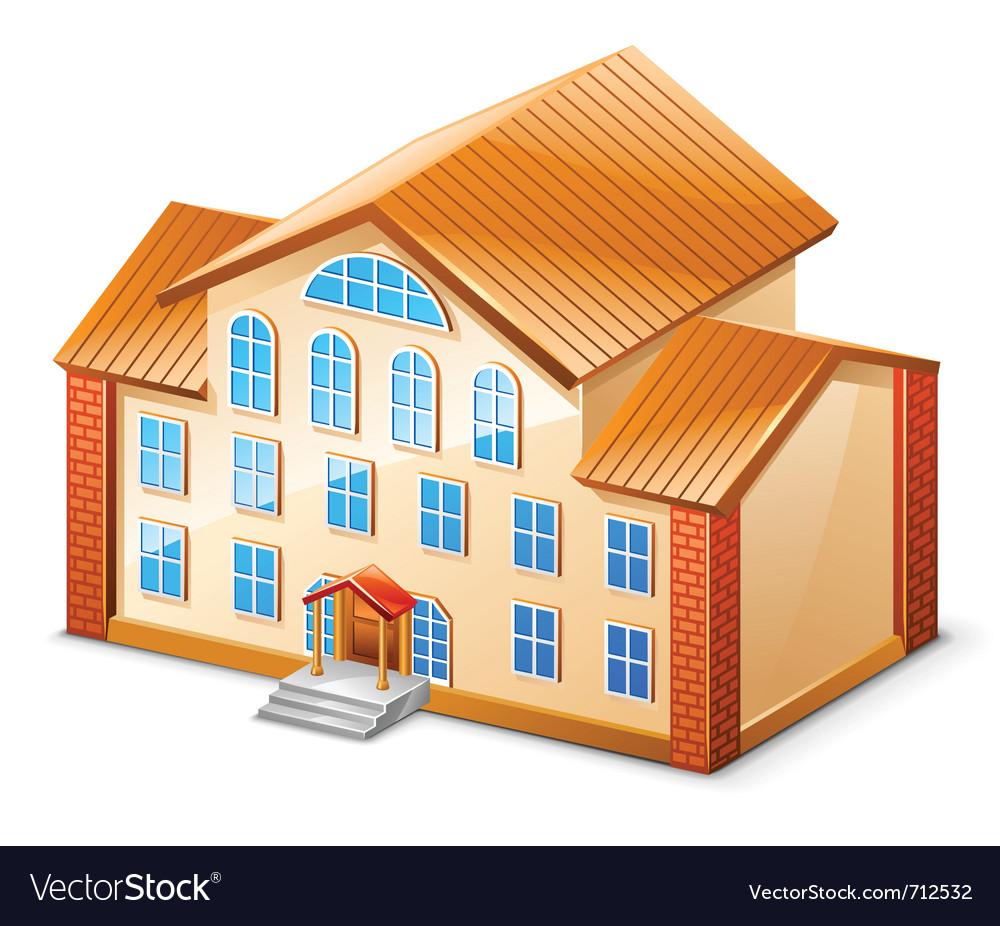 Building Royalty Free Vector Image - VectorStock