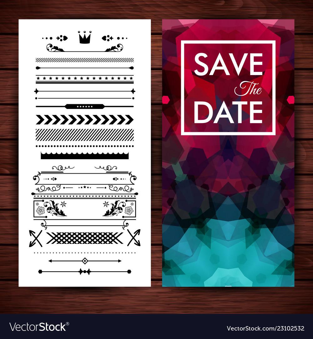 Deep purple save the date invitation template