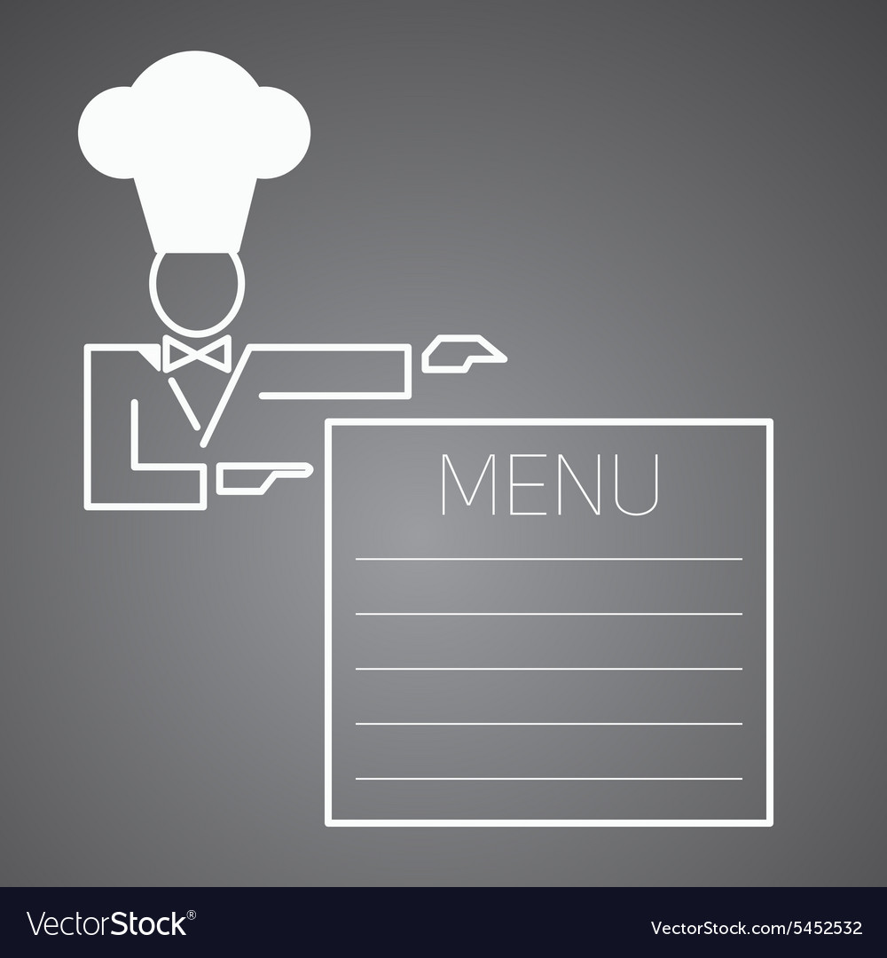 Flat character Chef menu