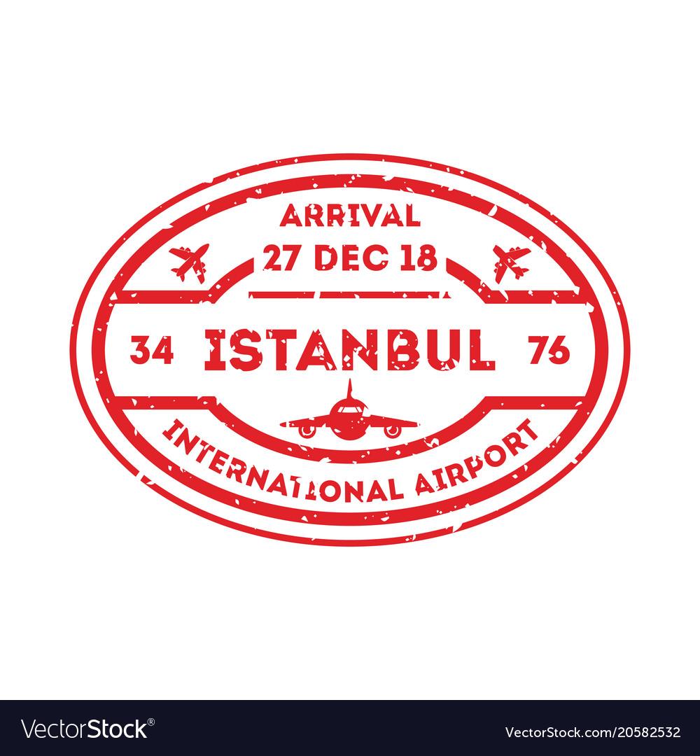 Istanbul city visa stamp on passport