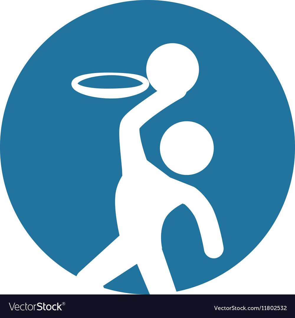 Man silhouette player basketball icon