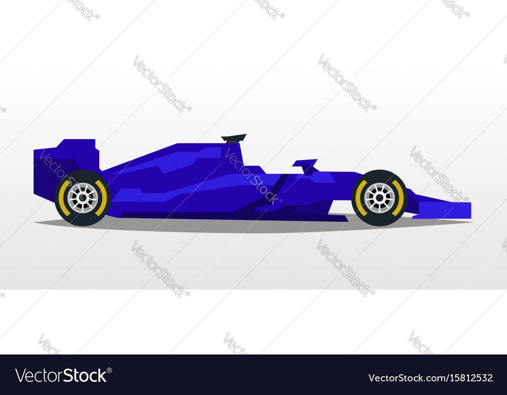 Purple racing bolid sports car quick transport