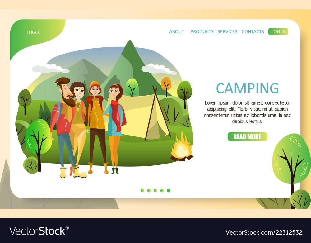 Summer camping landing page website