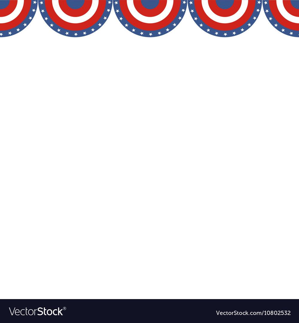 USA patriotic buntings flag Seamles US round