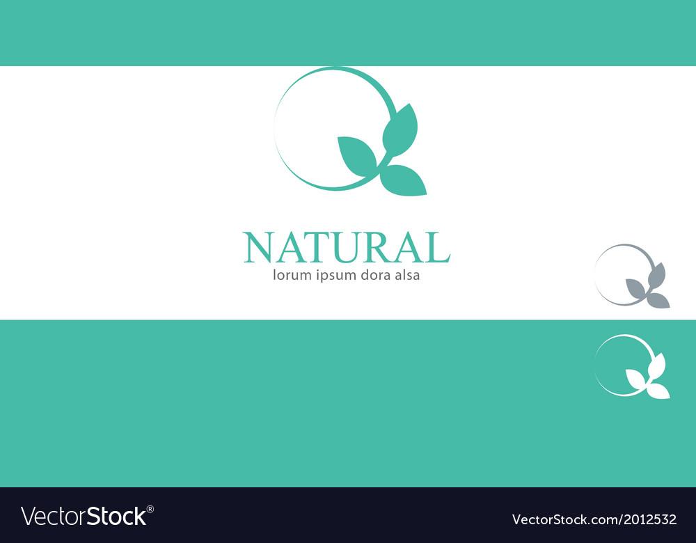 Wellness Mint Menthol Leaves Logo Concept Design