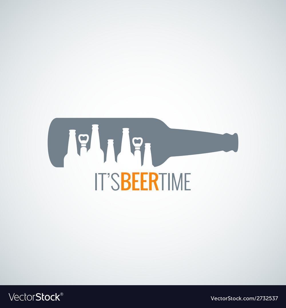 Beer bottle city concept design background