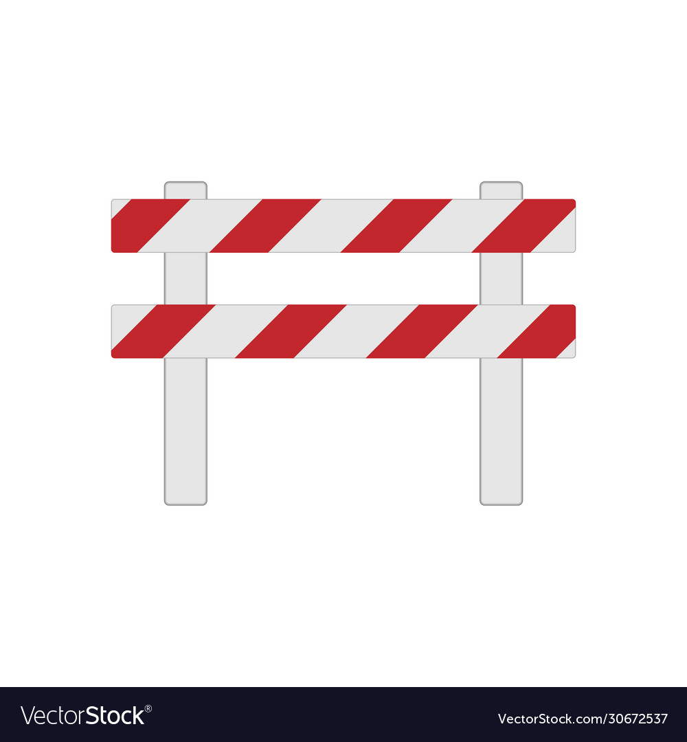 Color realistic road barrier for traffic and