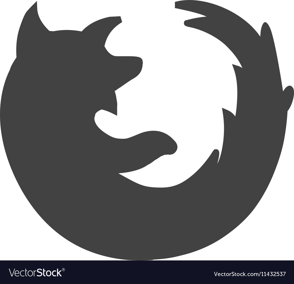 Firefox vector image