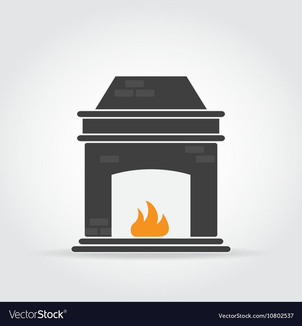 Fireplace Black Icon