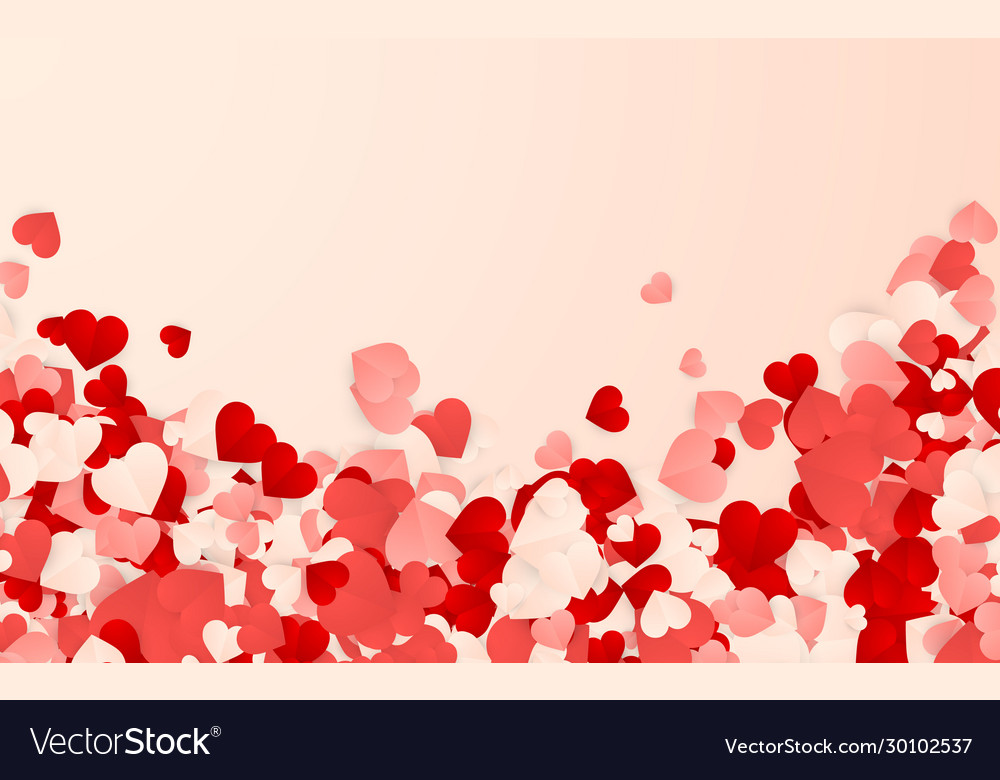 Happy valentines day background paper red pink