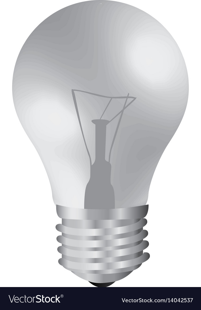 Realistic Modern Light Bulb Off Royalty Free Vector Image