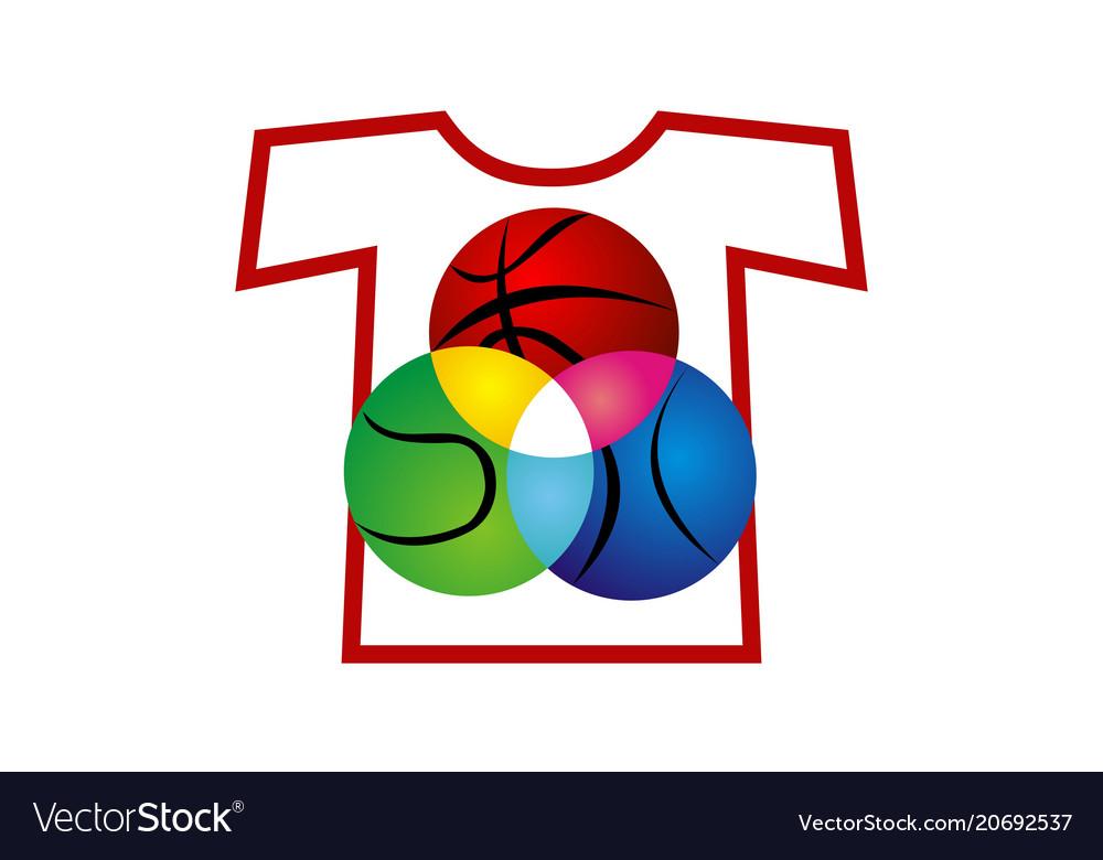 T-shirt sport ball