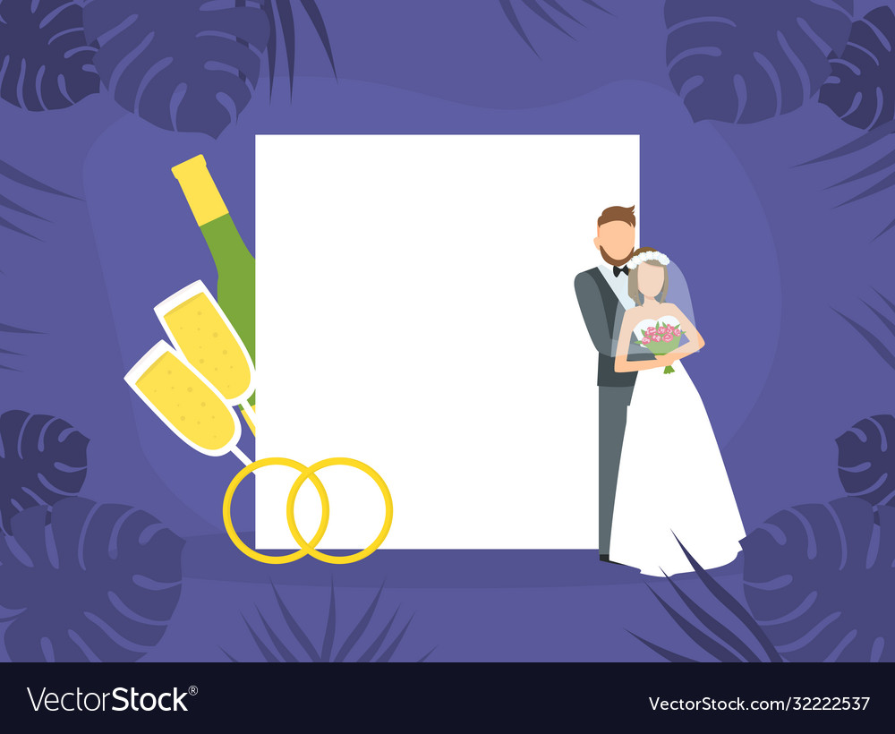 Wedding day happy romantic just married couple