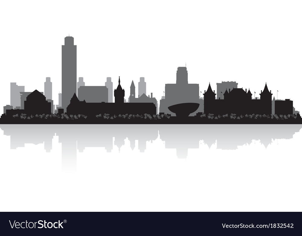 albany new york city skyline silhouette royalty free vector rh vectorstock com new york city vector free new york city vector images