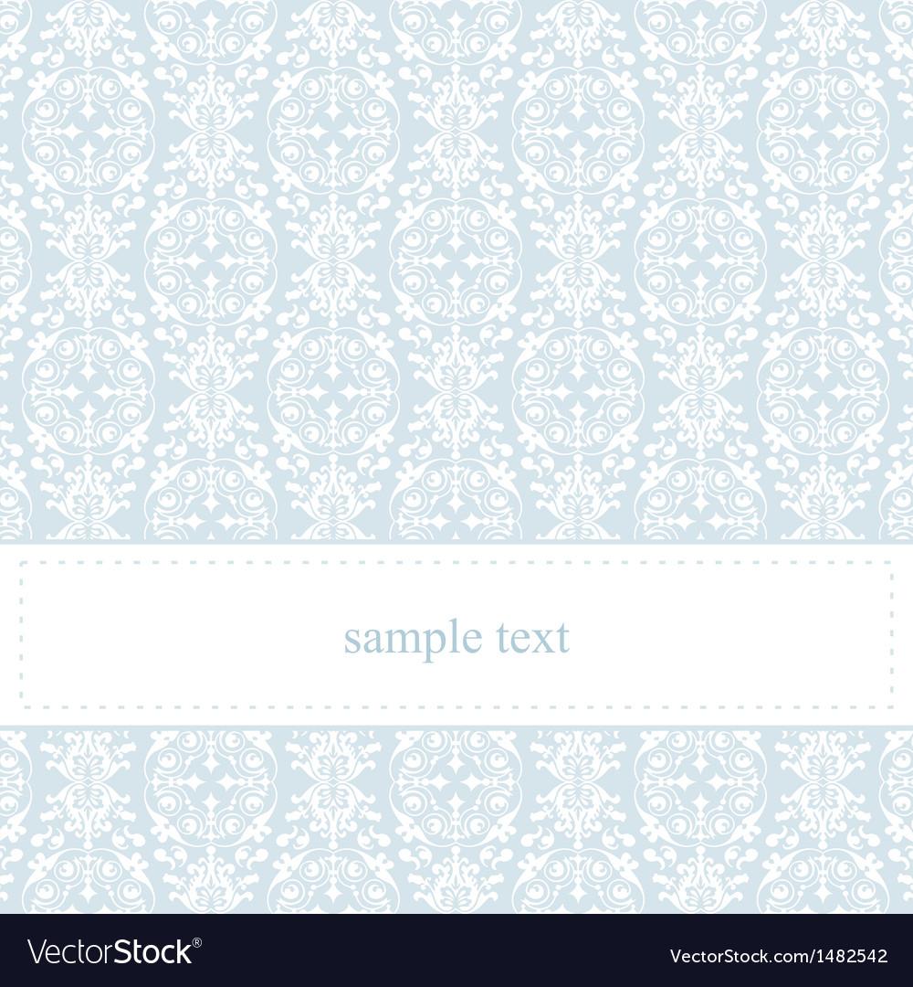 Classic lace card or wedding invitation