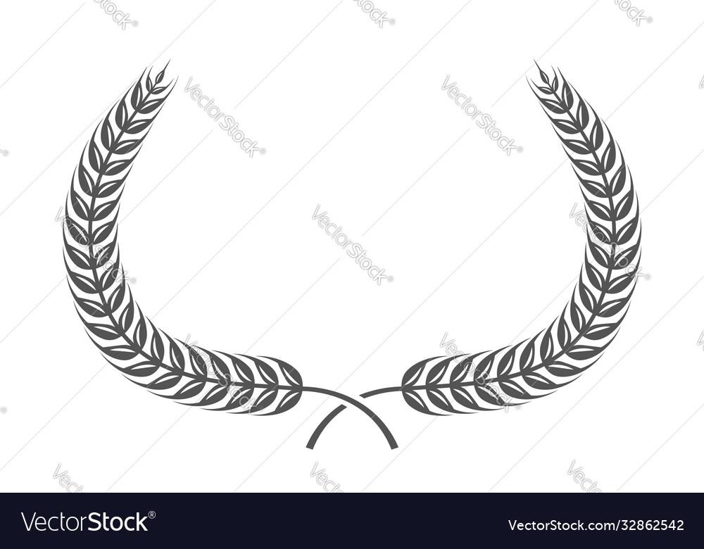 Coat arms wheat in heraldic style