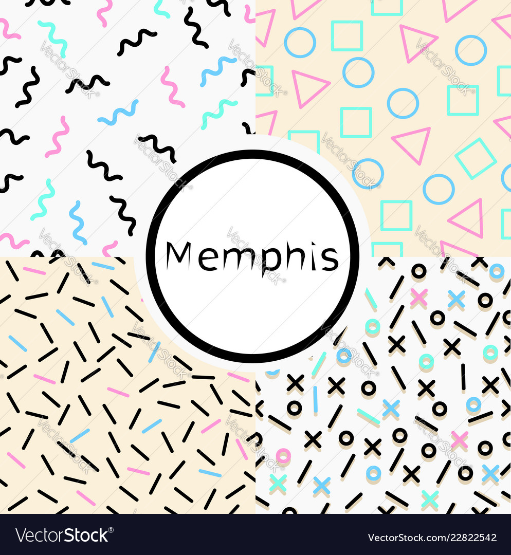 Collection memphis seamless pattern