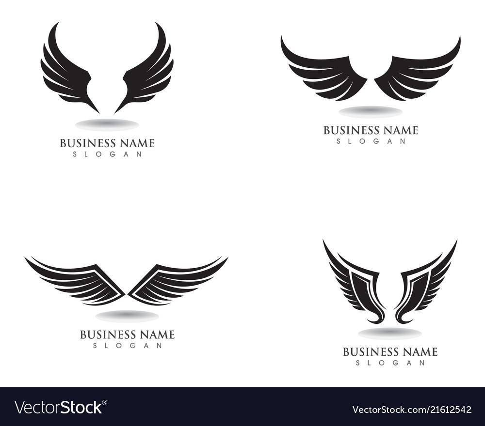 eagle wing falcon logo and symbols template vector image vectorstock