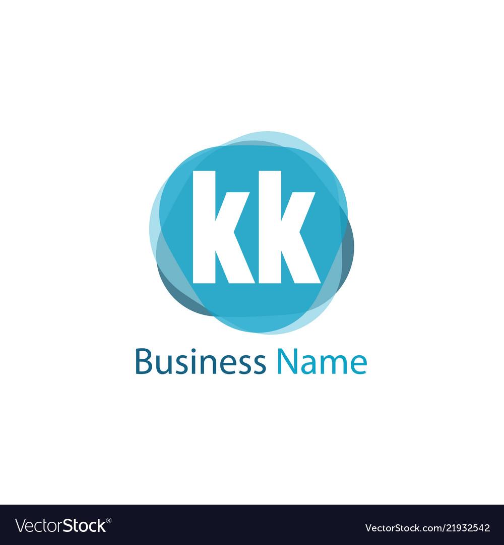 Initial Letter Kk Logo Template Design Royalty Free Vector
