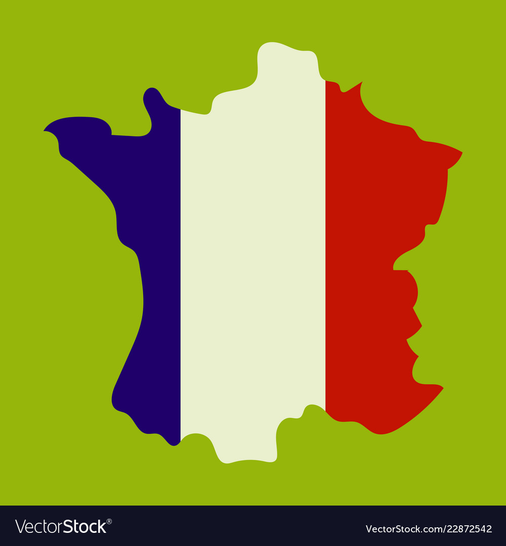 map of france with flag isolated 3d isometric