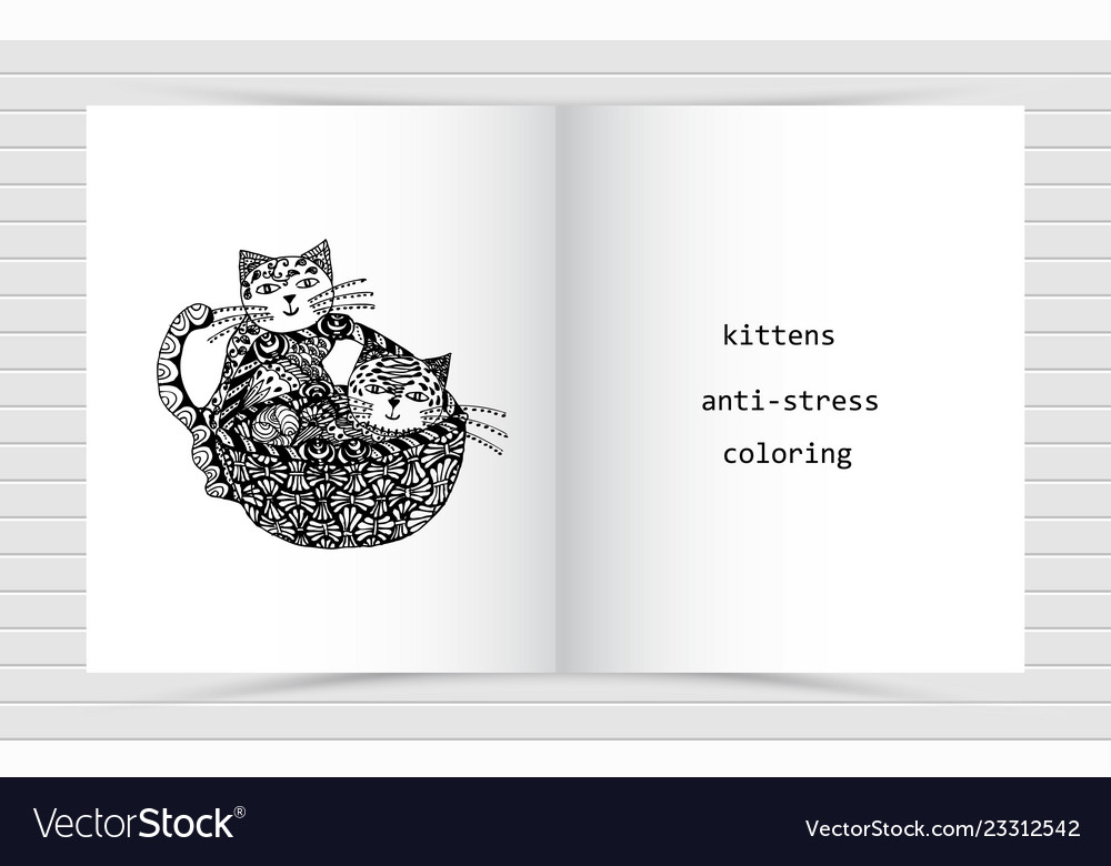 On the open white sheet coloring anti-stress