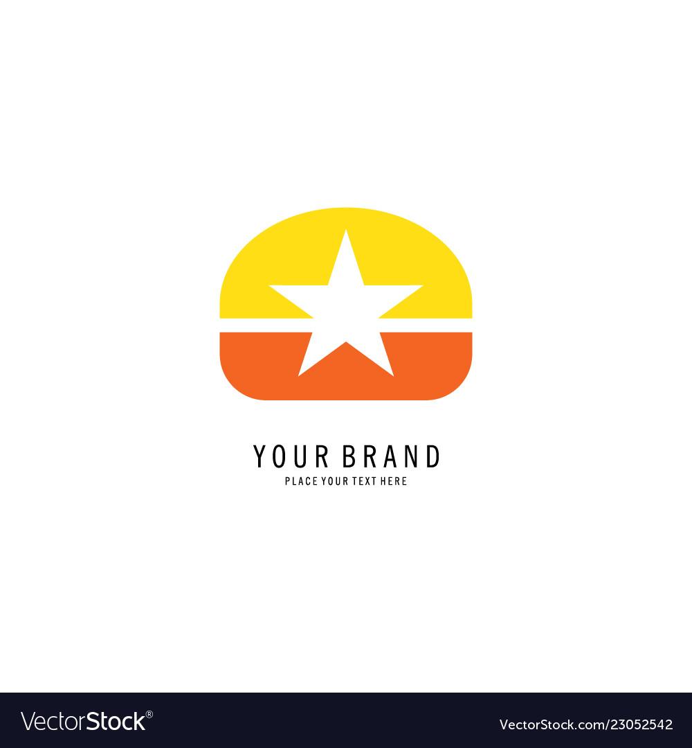 Star symbol logo