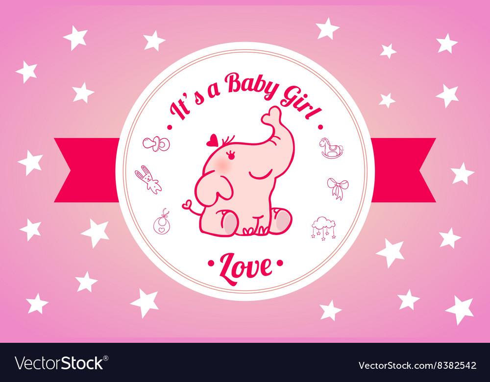 Sweet Baby Shower Invitation Card Design