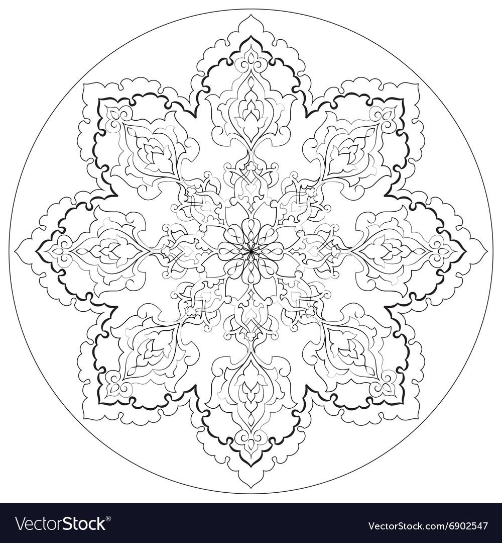 Antique ottoman turkish pattern design thirty