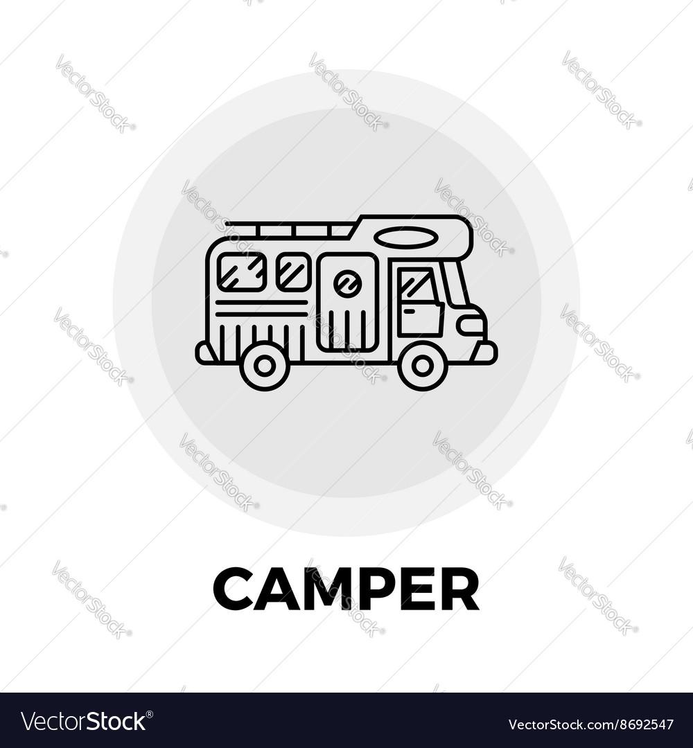 Camper Line Icon