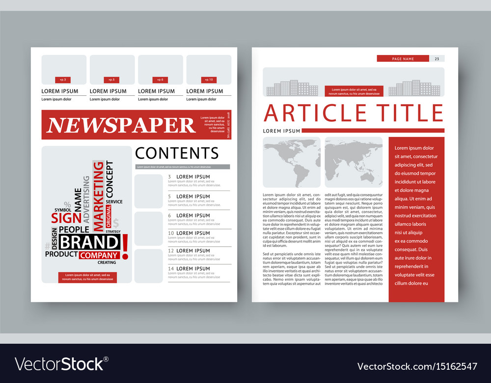 corporate magazine template front page royalty free vector
