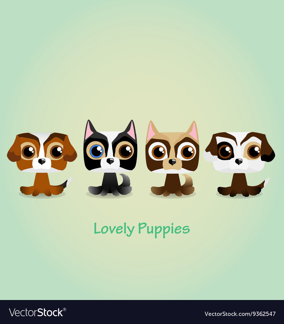 Cute funny lovely puppies
