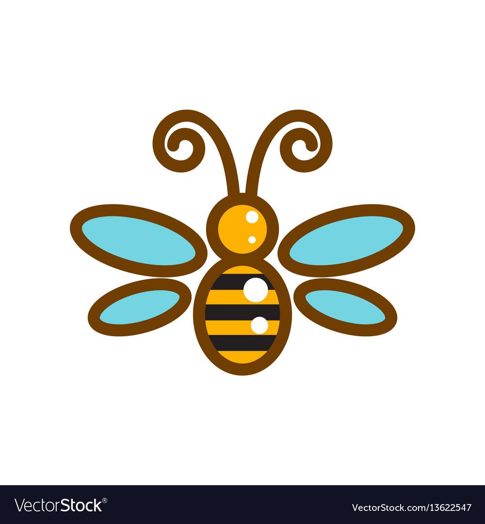 Honeybee line icon isolated