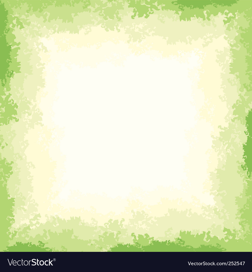 Nature border vector image