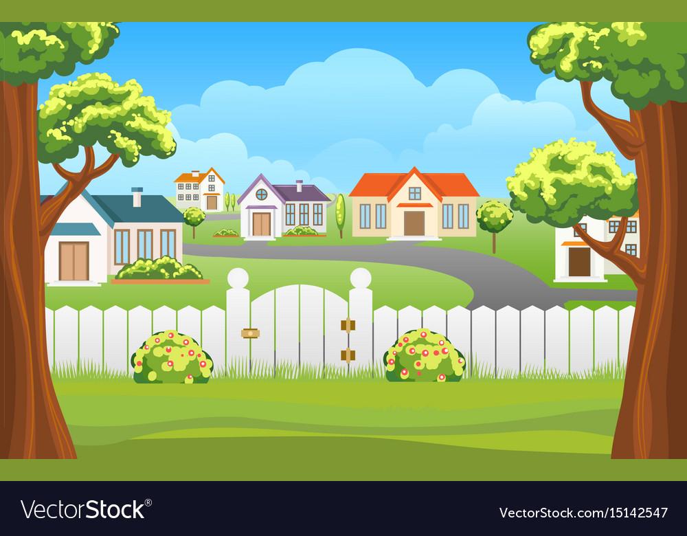 Outdoor backyard background cartoon