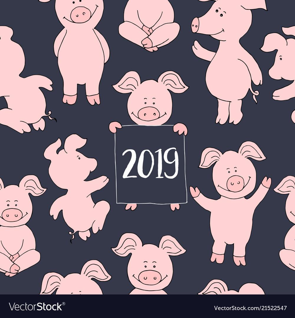 Для купюр, стильные открытки с новым годом 2019 свиньи