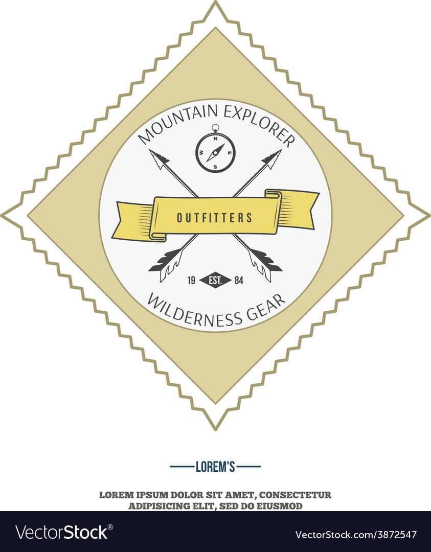 Wilderness gear adventure badge graphic design
