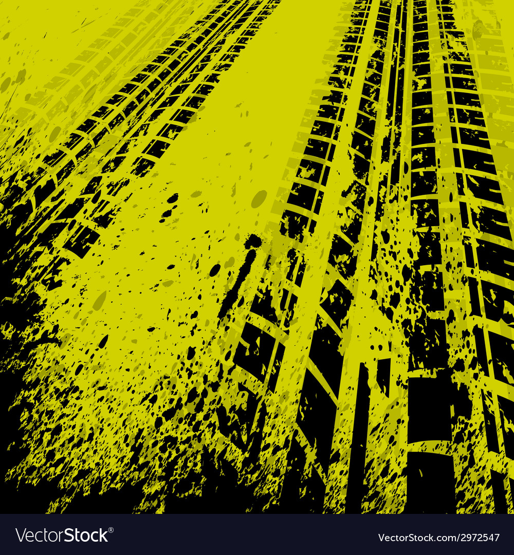 yellow tire track background royalty free vector image