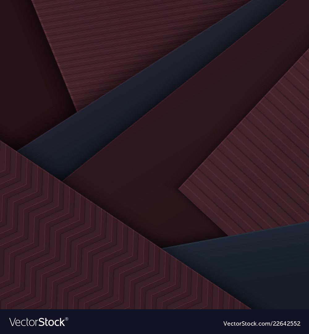Abstract dark blue red volumetric 3d geometric