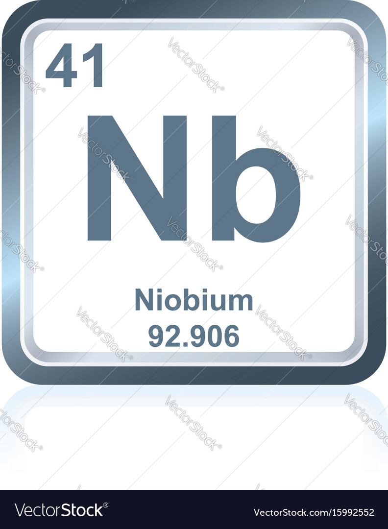Chemical element niobium from the periodic table